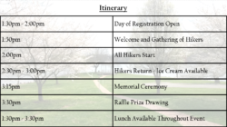 Itinerary 2017